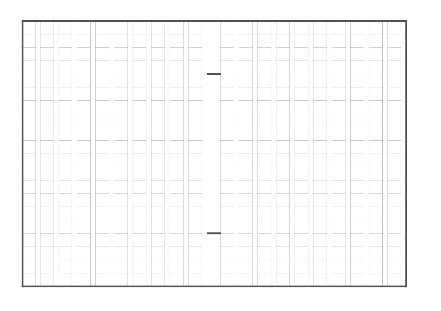 原稿用紙(作文用紙)のテンプレート(エクセル・ナンバーズ)ベーシックブラックA4横