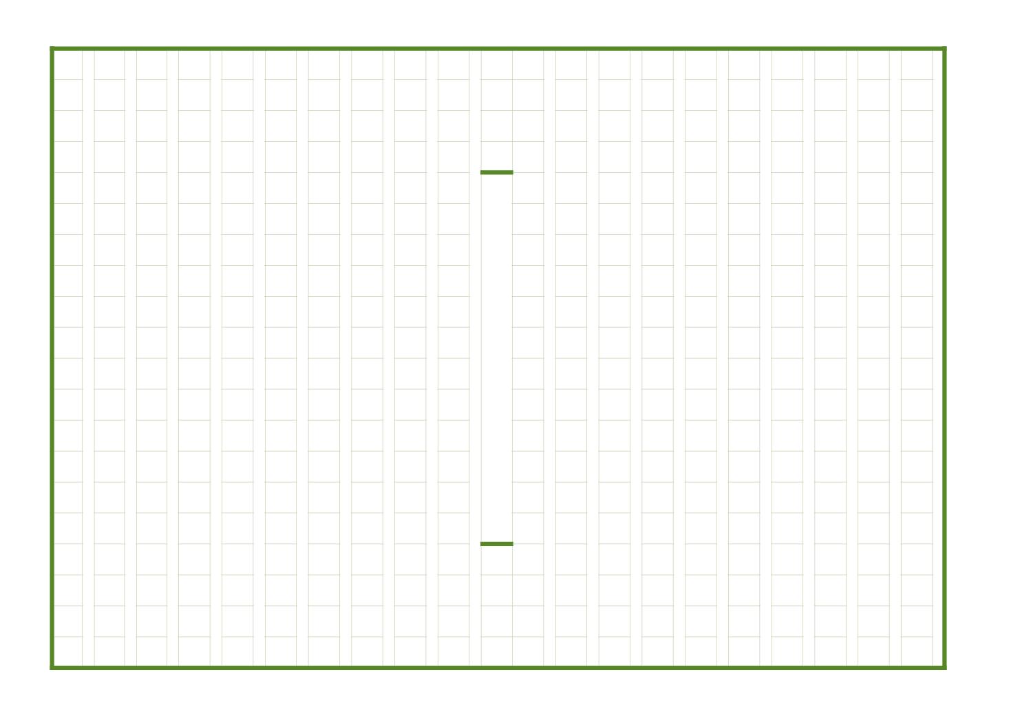 原稿用紙(作文用紙)のテンプレート(エクセル・ナンバーズ)ベーシックグリーンA4横