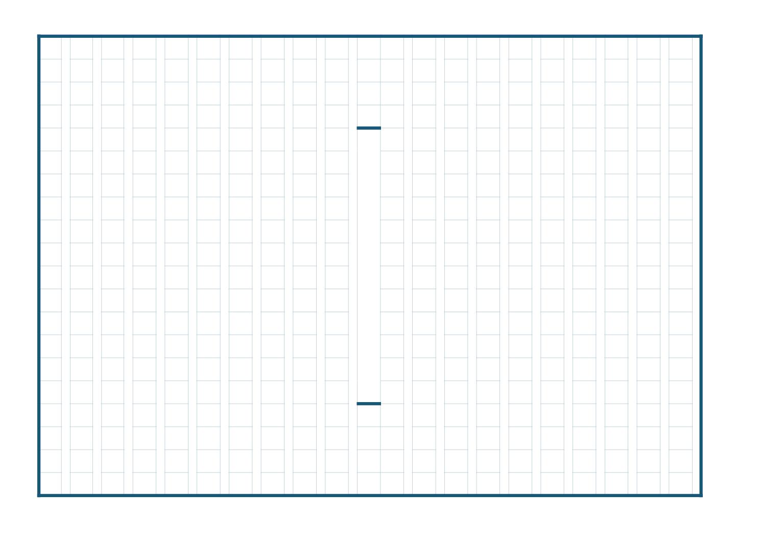 原稿用紙(作文用紙)のテンプレート(エクセル・ナンバーズ)ベーシックブルーA4横