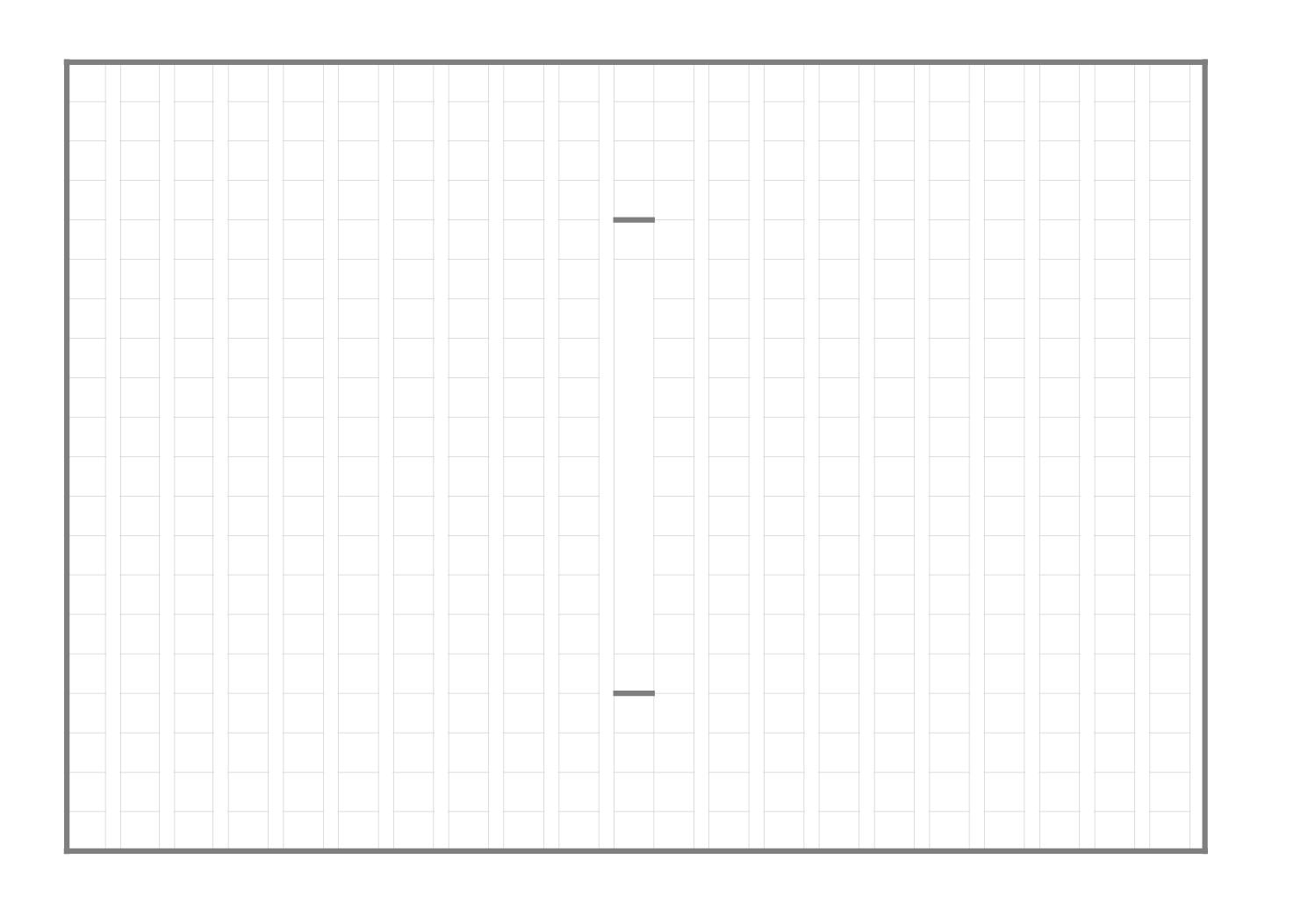 原稿用紙(作文用紙)のテンプレート(エクセル・ナンバーズ)ベーシックグレーA4横