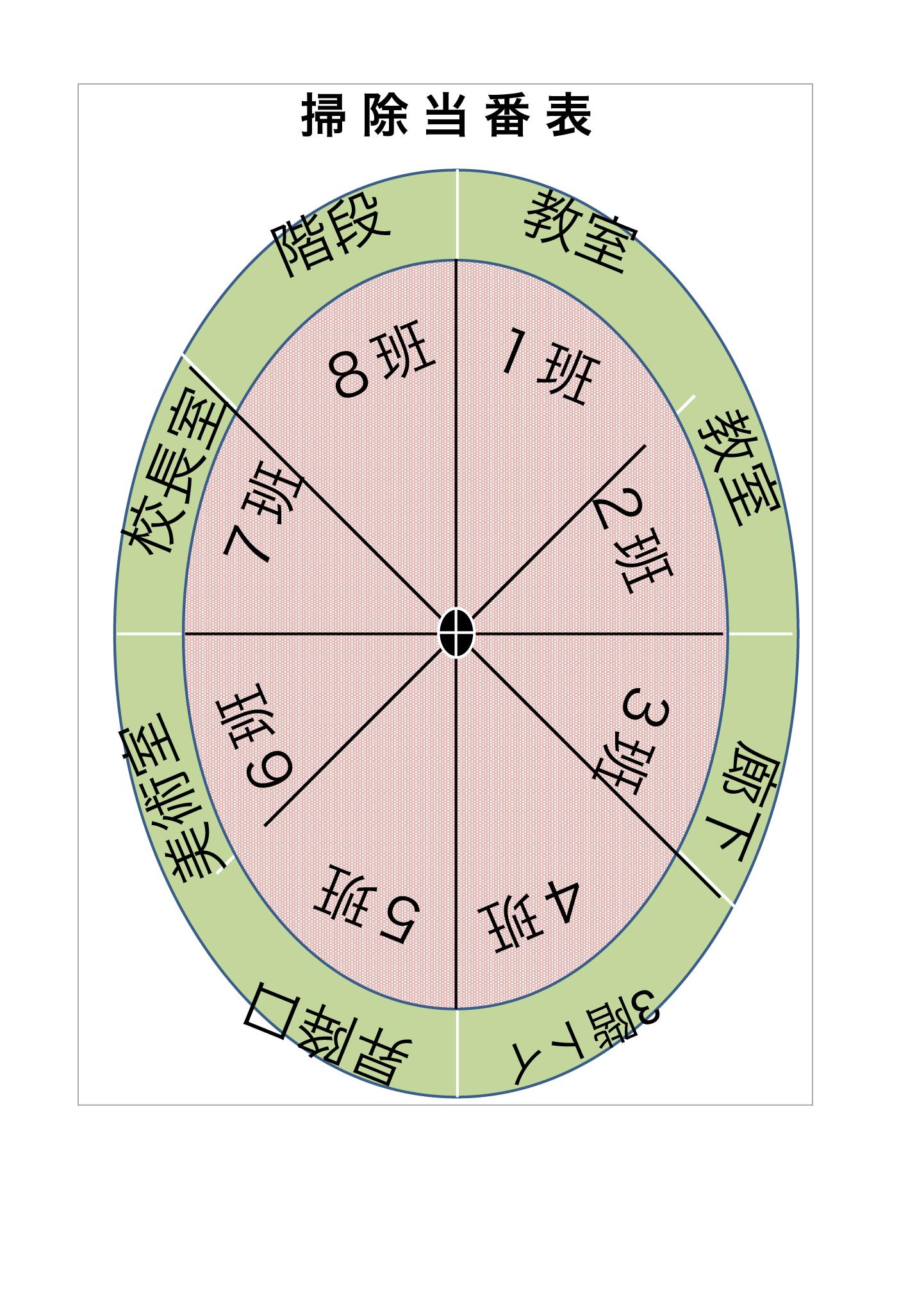 掃除当番表_円グラフ(エクセル・ナンバーズ)