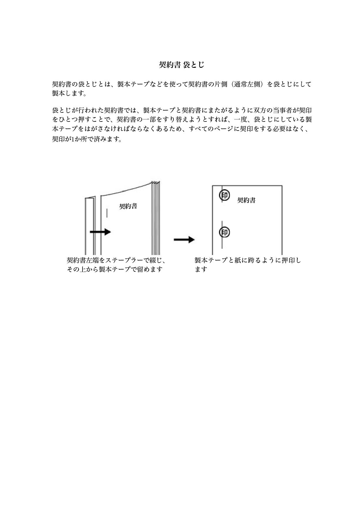 契約書の袋とじ『製本テープ』方法(ワード・ページズ)